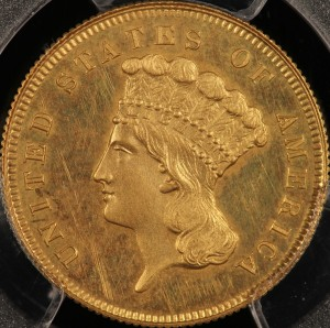 image of Proof 1862 $3.00 Princess