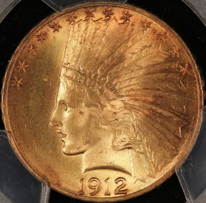 image of 1912 $10 Indian