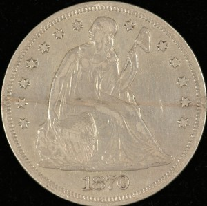 image of 1870-CC Seated Dollar