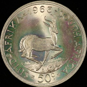 beautifully toned S. Africa 50c