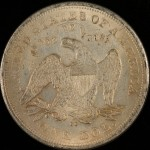 A Fake 1864-CC Silver Dollar