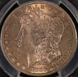 1880/9-S Morgan Dollar PCGS MS64