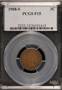 1908-S Indian Cent PCGS F15