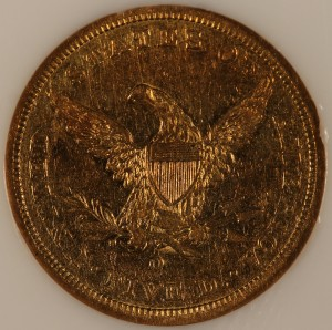1843-O Small Letters $5 NGC XF45