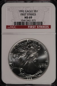 1992 Eagle S$1 NGC MS69 First Strike