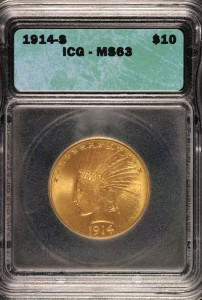 1914-S $10 Indian ICG MS63