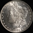 1878 Morgan Silver Dollar. 7 TF. MS-63. Obv