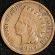 1909-S Indian Cent. Fine. Light Corrosion. Obv
