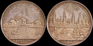 Hamburg. 803-1803. AR Medal. 1000 Year Anniversary of Hamburg.