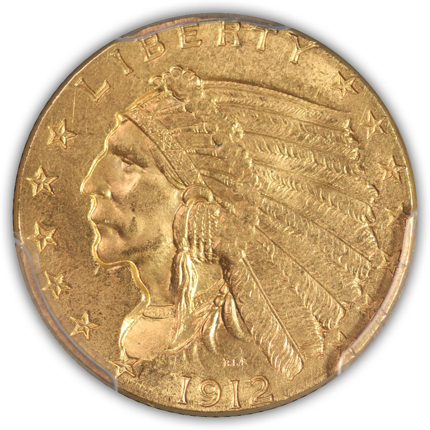 SOLD 1912 $2.50 Indian PCGS MS64