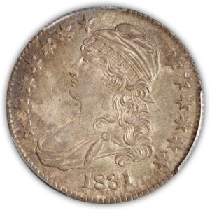 1831 Capped Bust Half Dollar PCGS MS63