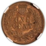 1908 S Indian Head Cent NGC MS 63 RB Reverse