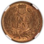 1909 S Indian Head Cent NGC MS 62 RB, Reverse