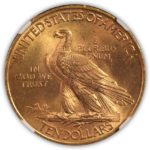 1911 $10 Indian Eagle, NGC MS 63, Reverse