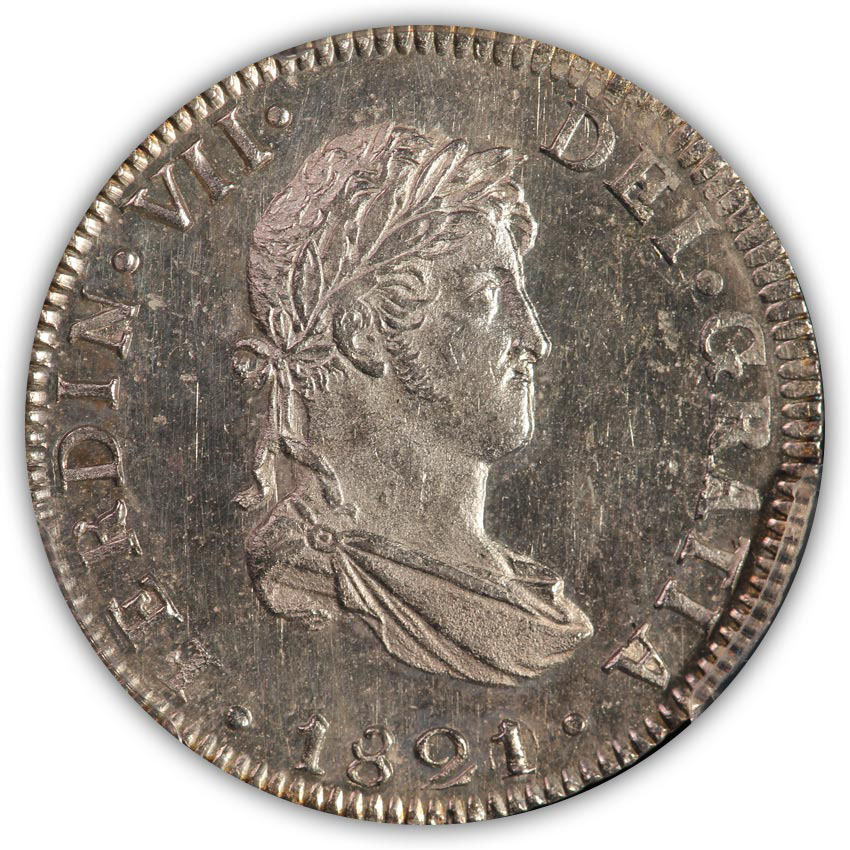 SOLD Mexico. 1821 2 Reales PCGS MS62
